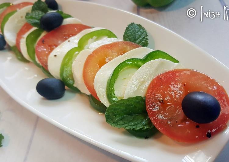 Caprese salad with Capsicum