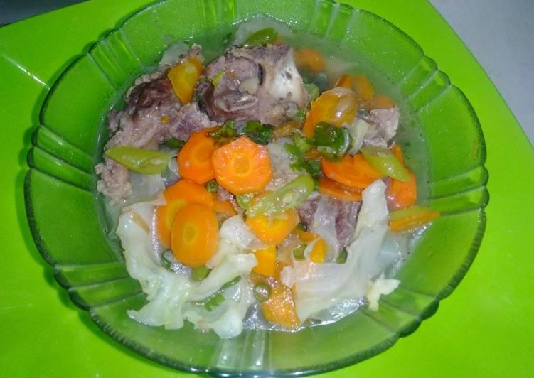 Resep Sayur Sop Simple (Bumbu Kuah Bakso 🤭) Yang Gampang Lezat