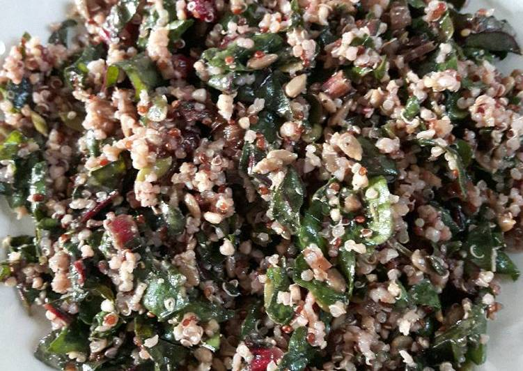 Simple Way to Prepare Super Quick Homemade Swiss chard & quinoa salad