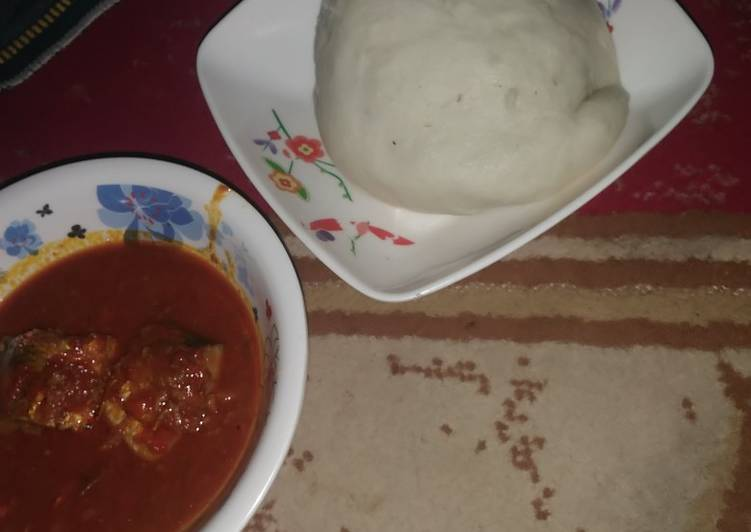 Steps to Prepare Perfect Pounded yam and fresh fish soup