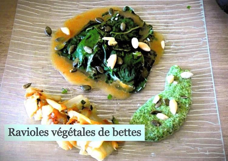 Ravioles végétales aux blettes
