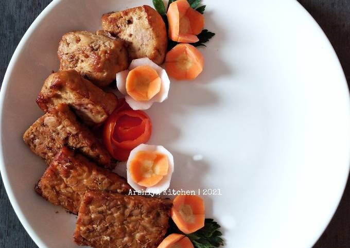 Tahu Tempe Bacem (Ala Cicilia Catering)