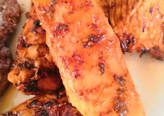 Poulet mariné (four ou barbecue)