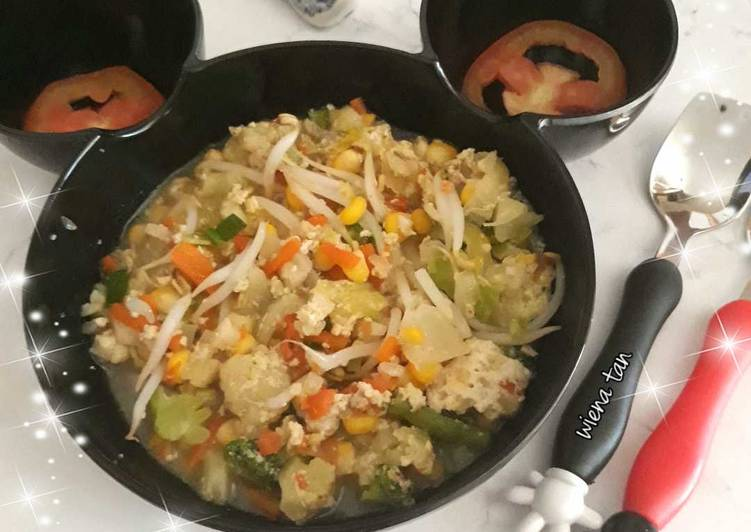 Sup Telur Sayuran | menu anak 1y+