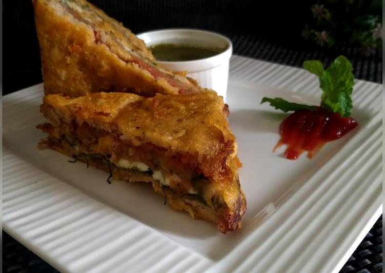 30 Minute Recipe of Summer Cheesy Sandwich Pakora