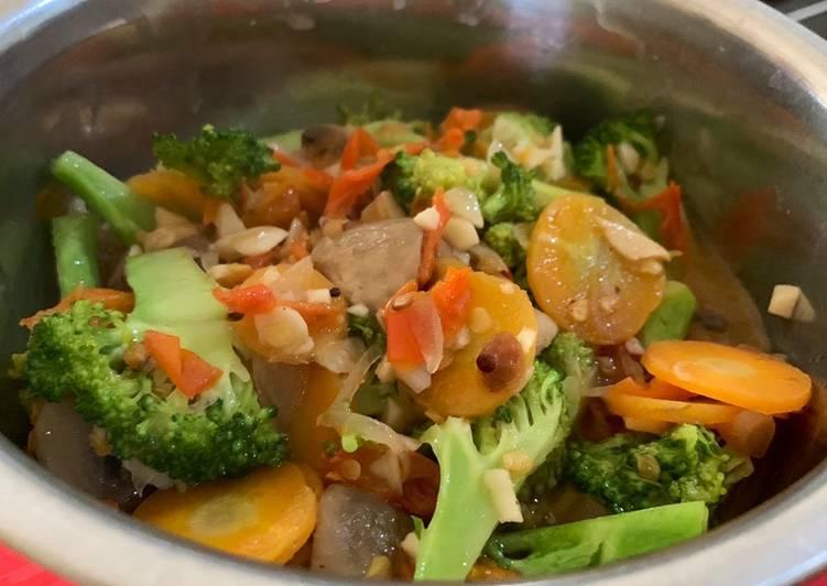 Brokoli jamur wortel tiram