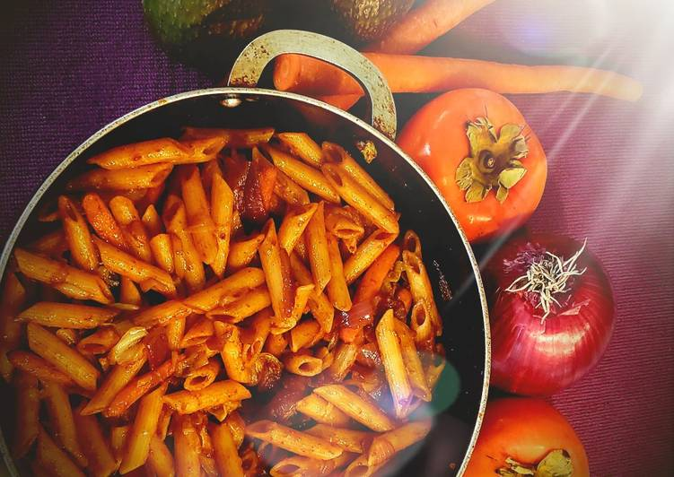 Step-by-Step Guide to Make Homemade Red sauce penne pasta