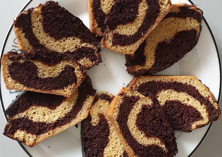 Comment Préparer Les Cake marbré façon savane