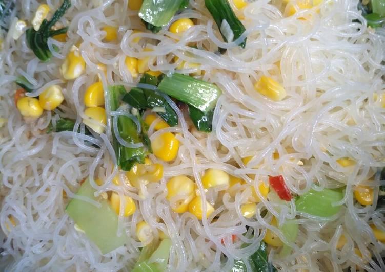 Bihun goreng jagung manis