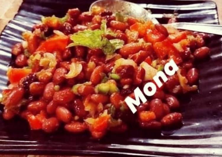 Old Fashioned Dinner Easy Winter Piping Hot Dry Rajma (Kidney beans)