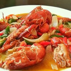 Lobster Danau Saus Tiram ~ Gurih-pedes-seger ?