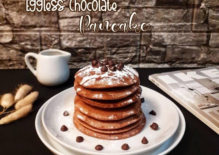 Eggless Chocolate Pancake