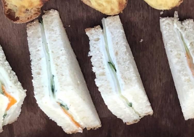 Mini sandwich concombre 🥒 fromage frais surimi