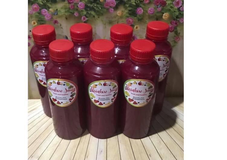 Diet Juice Beetroot Apple Kiwi Purple Cabbage Passion fruit