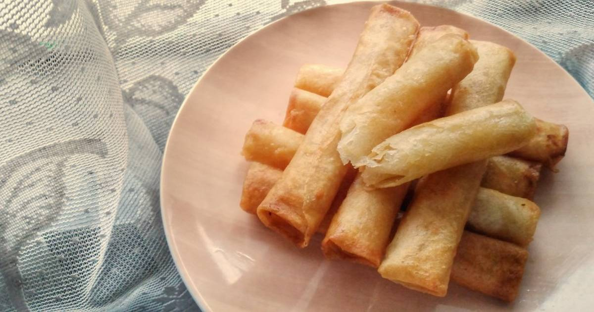 Cheese Spring Rolls Recipe By Iskan Detia Karina Cookpad