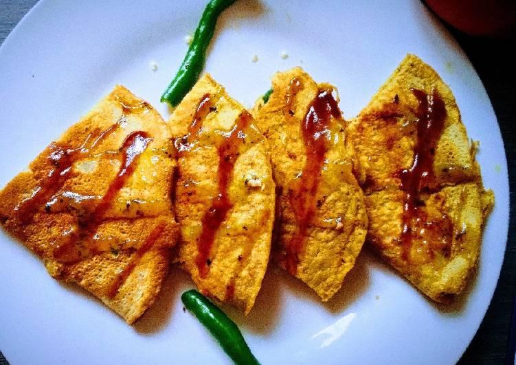 25 Minute Steps to Prepare Vegan Chickpea flour Pan Cake Besan fluffy Chilla