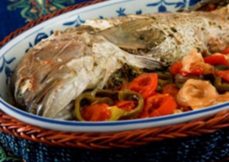 Recipe: Perfect Oven baked fish with chili – samkeh harra
