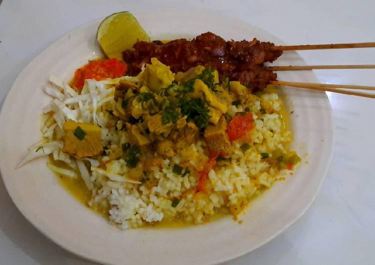 Nasi gule (nasi becek khas nganjuk)