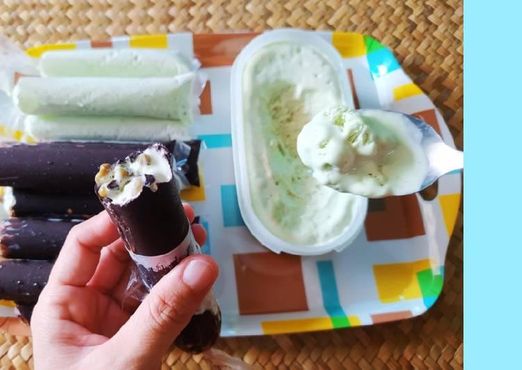 Es krim dung2 rasa santan dan kacang hijau honemade