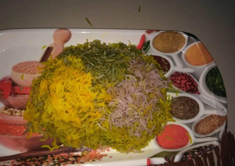 Tri colour rice