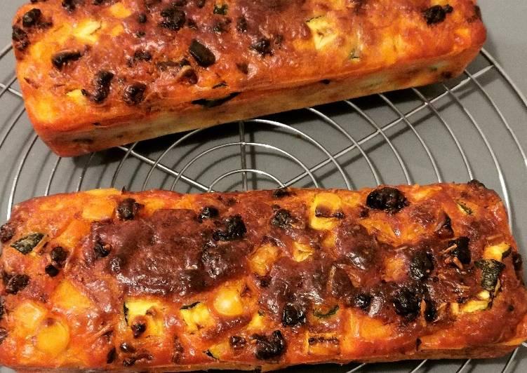 Cake Chorizo Courgettes Poivron