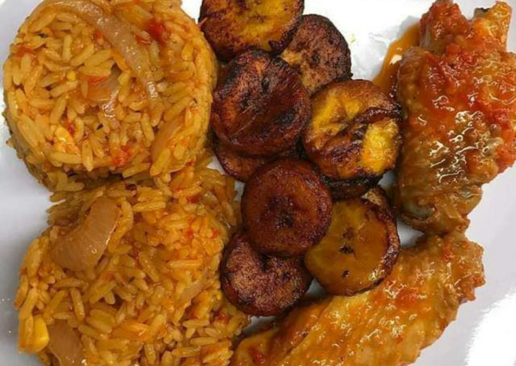 What is Dinner Ideas Spring Jollof rice,turkey and fried plantain