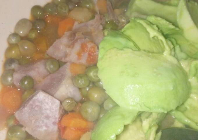 French peas with arrowroot stew