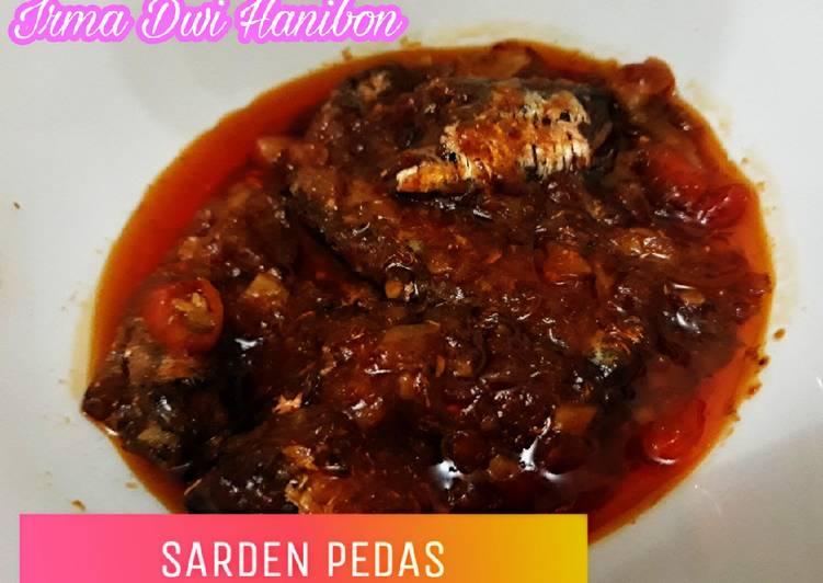 Sarden kaleng pedas simpel