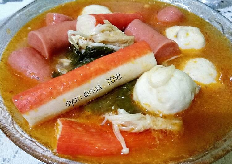 Shabu Shabu (Suki) Homemade kuah Tom Yum