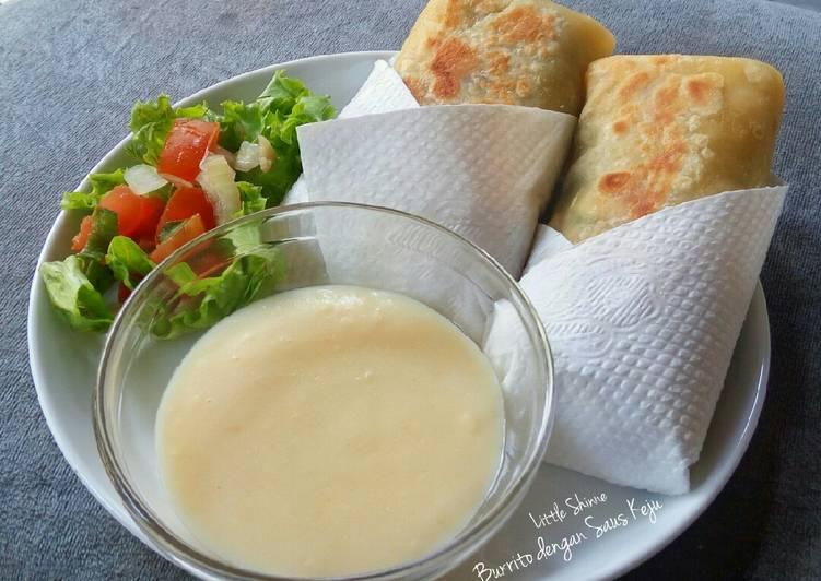 Resep Burrito Dengan Saus Keju Oleh Little Shinne Cookpad