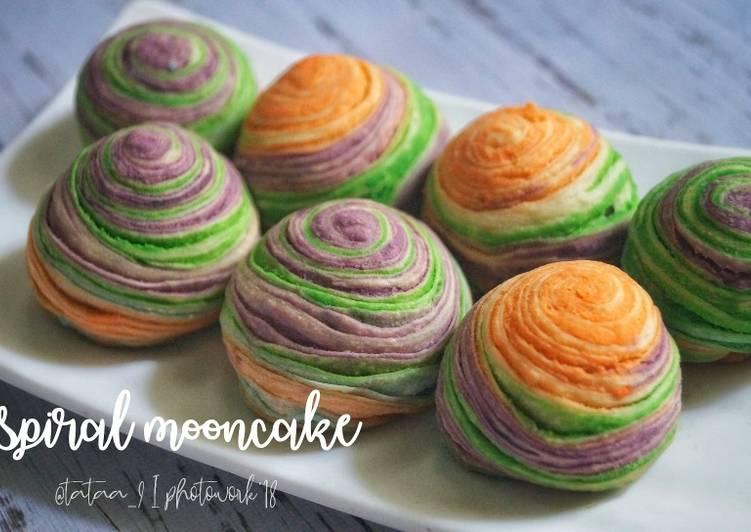 Spiral mooncake