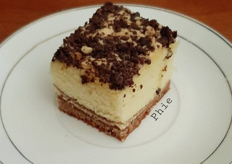 Cake Marmer Jadul topping brownies crumbs