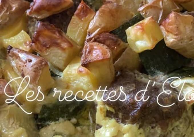 Boulette de bœuf / courgette/ curry