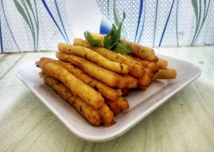Stik kentang ekonomis (skip keju)