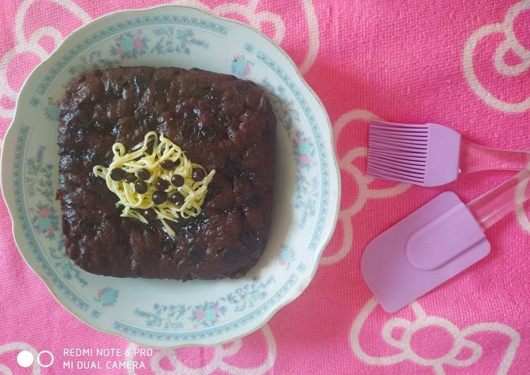 Brownies kukus gurih legit (no mixer)