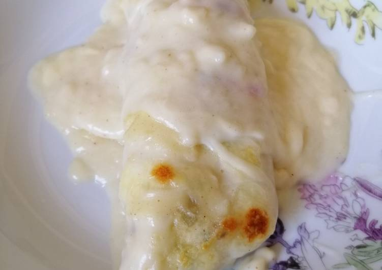 Cómo Hacer Delicioso Crepes salados con pollo setas al horno