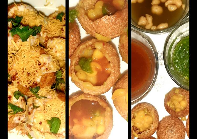 Easiest Way to Make Appetizing Indian snack (crisp sphere with flavoured water/curd mixture)