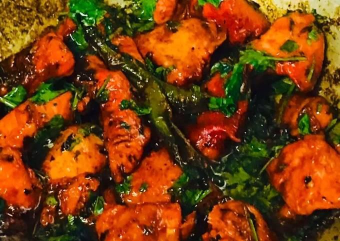 Recipe: Yummy Instant Kadai chicken recipe