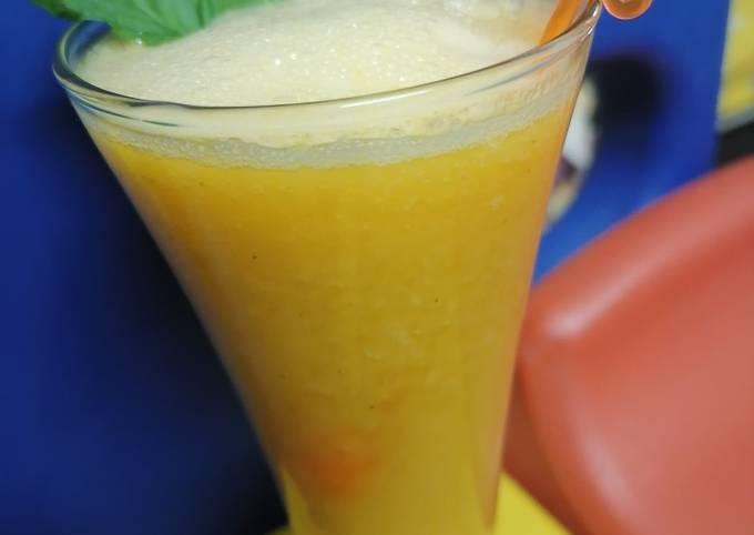 Orange Mango mint juice 🍋
