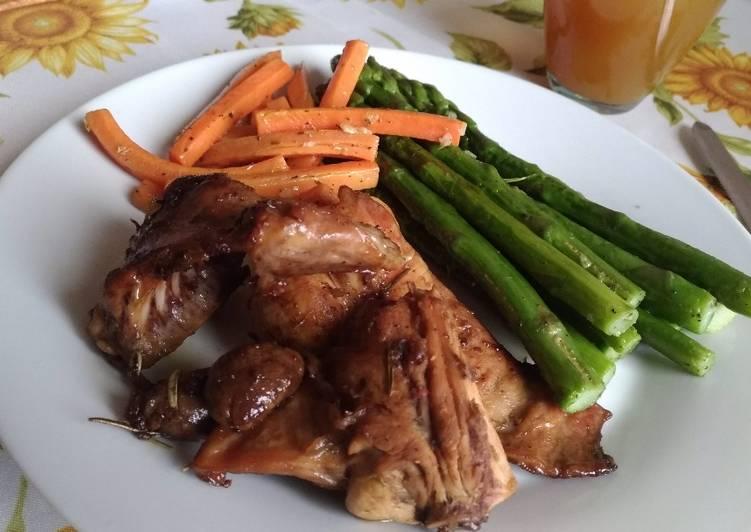 Coniglio Saporito (Daging Kelinci Bumbu) #lowcarbrecipe