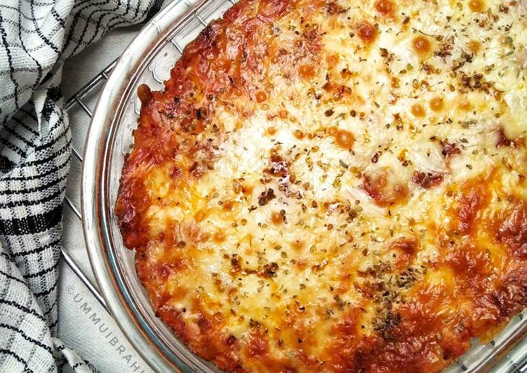Cheesy Bolognese Baked Rice
