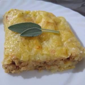 Pastel de papa vegetariano sin huevo fácil y práctico
