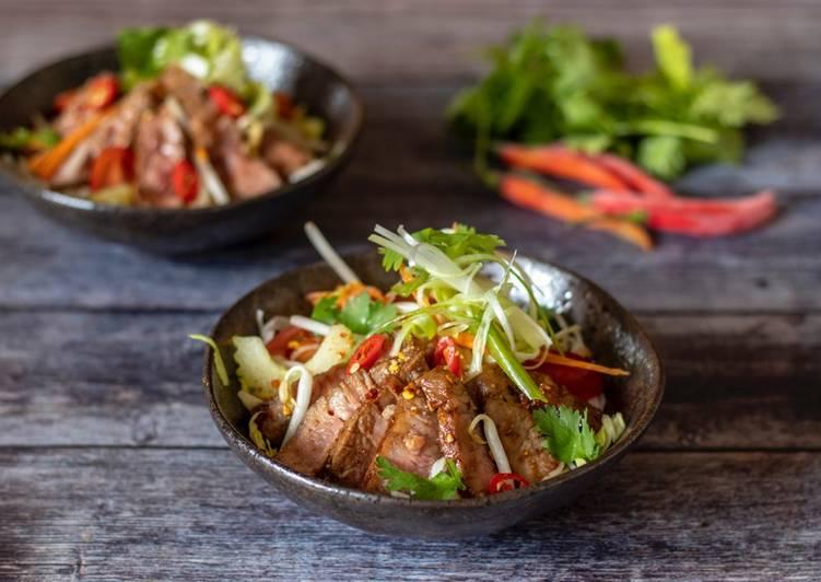 Beef Waterfall Thai Salad