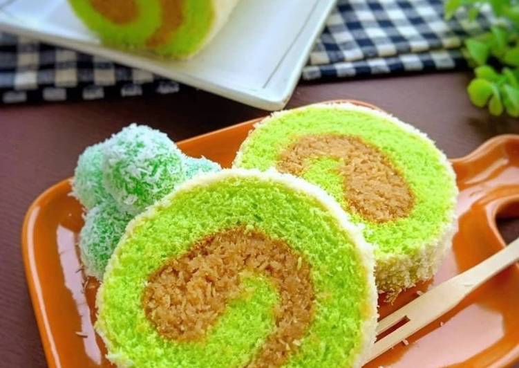 Klepon roll cake