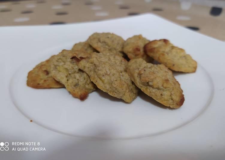 Galletas de plátano-avena-pistacho
