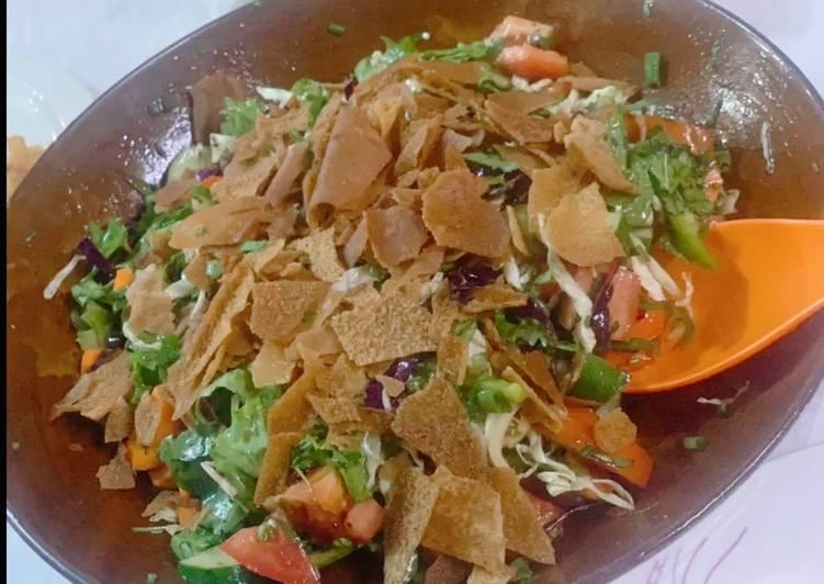 Recette: Parfait Salade fatoush
