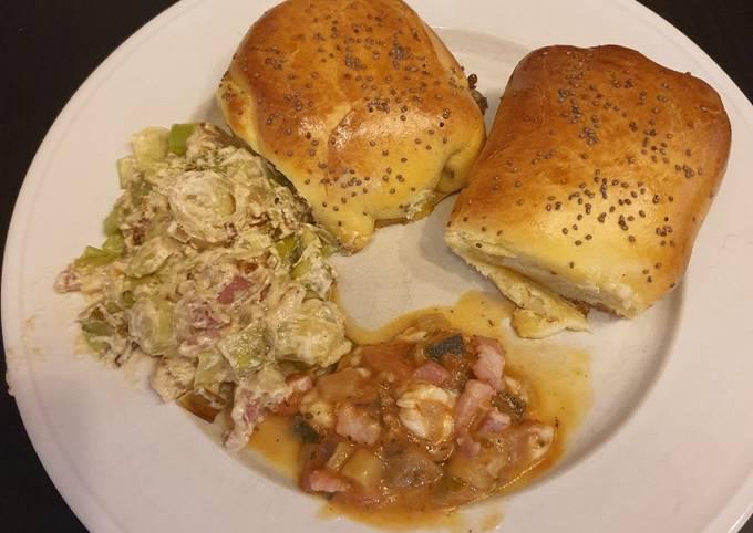Petits pains fourrés aux légumes et fromage