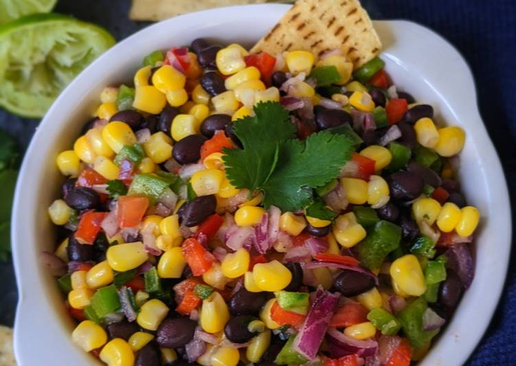 Steps to Make Quick Black Bean and Corn Salsa