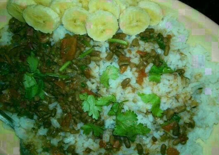 Western ndengu and rice