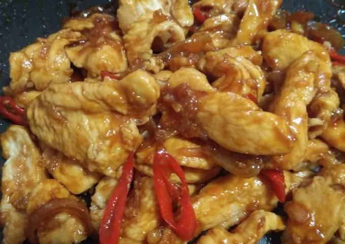 Ayam saori saus tiram (diet)